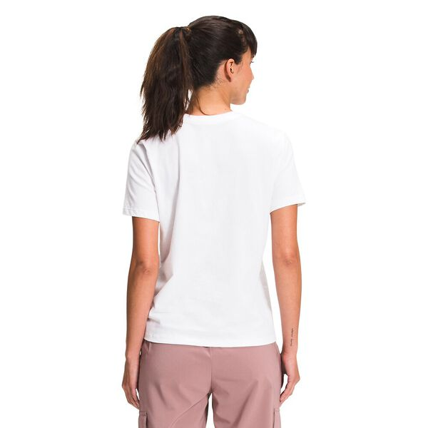 Women's Short-Sleeve Half Dome Cotton Tee, TNF WHITE, hi-res