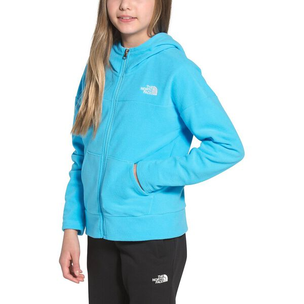 Girls' TKA Glacier Full Zip Hoodie, ETHEREAL BLUE, hi-res