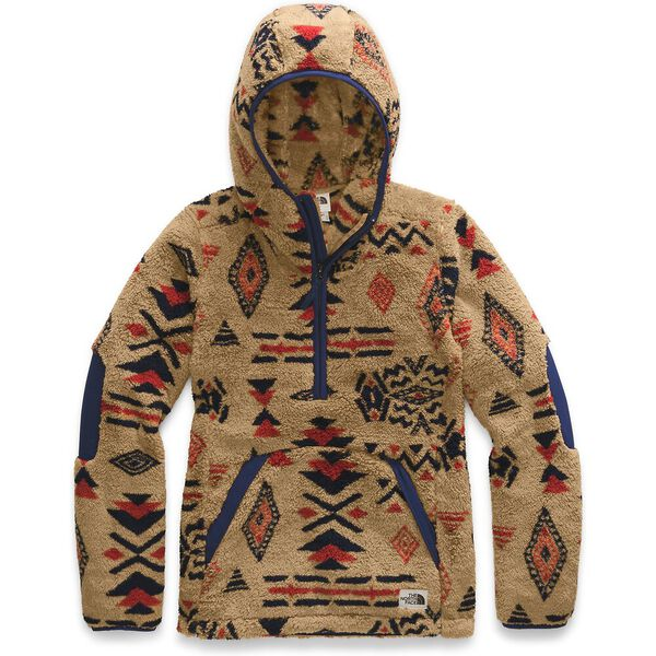 WOMEN'S CAMPSHIRE PULLOVER HOODIE 2.0, CEDAR BROWN CALIFORNIA GEO PRINT, hi-res