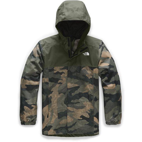 Boys' Resolve Reflective Jacket, BRITISH KHAKI WAXED CAMO PRINT, hi-res