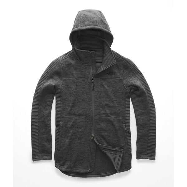 WOMEN'S INDI HOODED PARKA, TNF DARK GREY HEATHER, hi-res