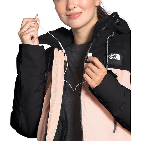 Women's Pallie Down Jacket, TNF BLACK/MORNING PINK, hi-res
