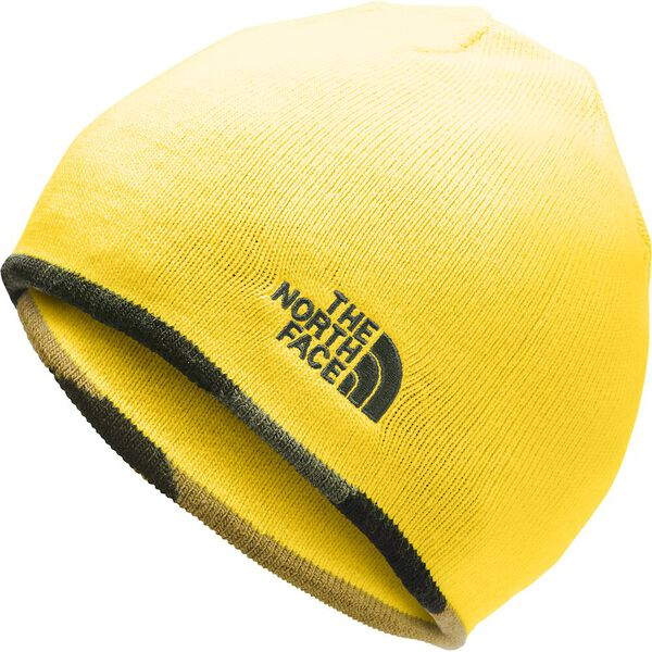 Youth Anders Beanie, NEW TAUPE GREEN CAMO/VIBRANT YELLOW, hi-res