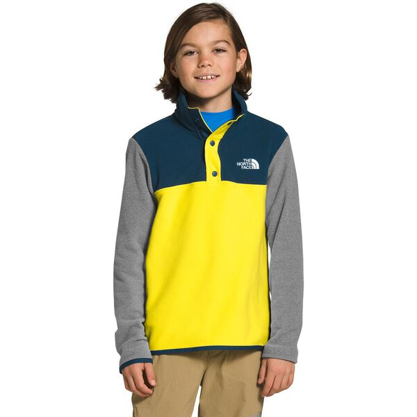 Boys' Glacier ¼ Snap, TNF LEMON, hi-res