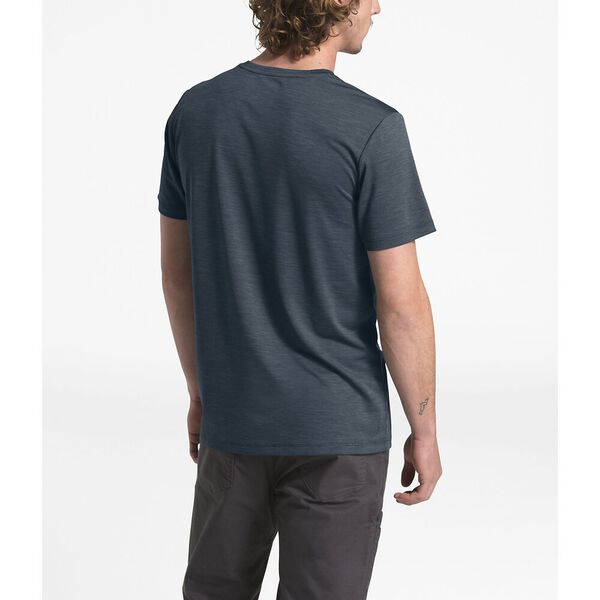 MEN'S HYPERLAYER FD S/S CREW, URBAN NAVY HEATHER, hi-res