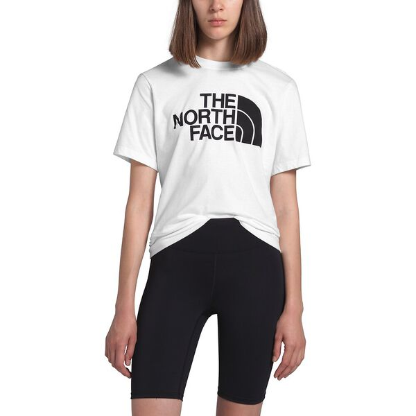 Women's Short-Sleeve Half Dome Cotton Tee, TNF WHITE, hi-res