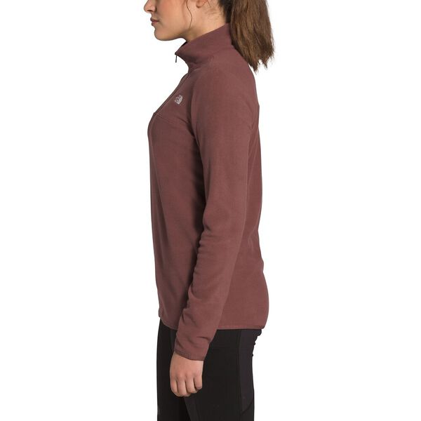 Women's TKA Glacier Fleece ¼ Zip, MARRON PURPLE, hi-res