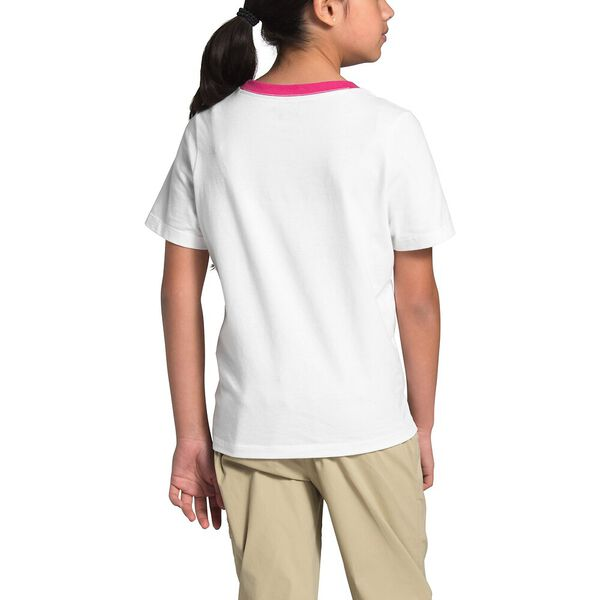 Girls' Short-Sleeve Graphic Tee, TNF WHITE, hi-res