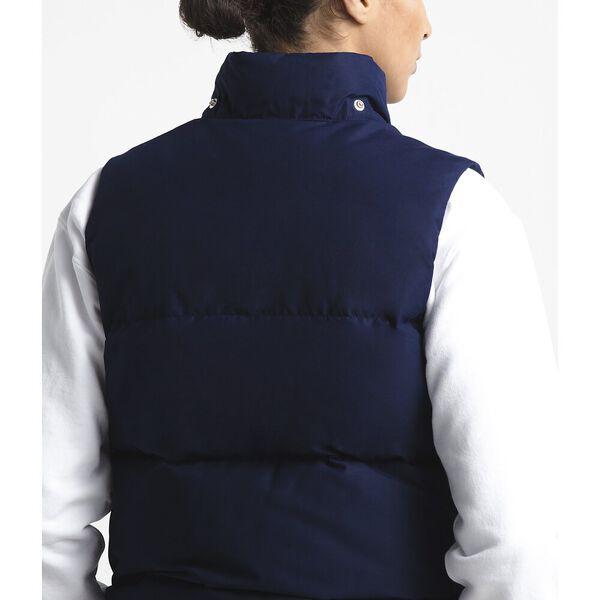 Women's Down Sierra Vest, MONTAGUE BLUE/CEDAR BROWN, hi-res